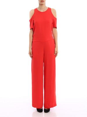 P.A.R.O.S.H.: jumpsuits online - Panterax crepe cady jumpsuit