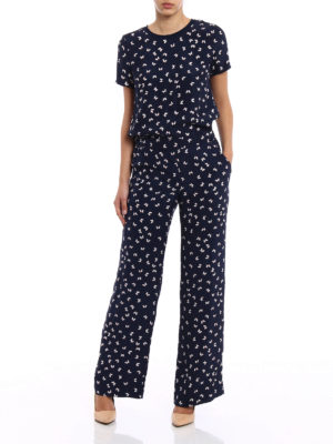 P.A.R.O.S.H.: jumpsuits online - Simpaty printed silk jumpsuit