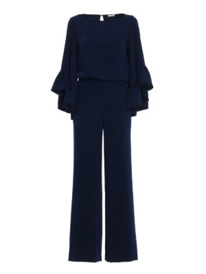 P.A.R.O.S.H.: jumpsuits - Pantery navy cady jumpsuit