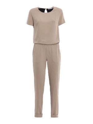 P.A.R.O.S.H.: jumpsuits - Pantetrix crepe cady jumpsuit