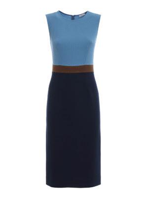 P.A.R.O.S.H.: abiti al ginocchio - Tubino Lachix in lana color block