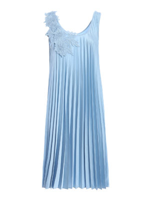 P.A.R.O.S.H.: knee length dresses - Macrame insert Pianox pleated dress
