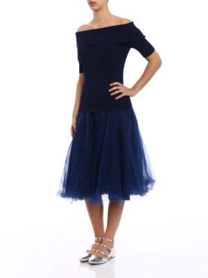P.A.R.O.S.H.: knee length dresses online - Romantic off-the shoulder dress