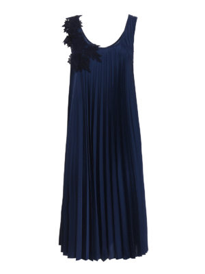 P.A.R.O.S.H.: knee length dresses - Pianox pleated dress