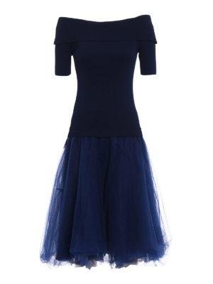 P.A.R.O.S.H.: knee length dresses - Romantic off-the shoulder dress