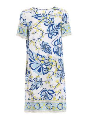 P.A.R.O.S.H.: knee length dresses - Siflor printed silk tunic dress