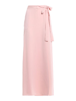 P.A.R.O.S.H.: Long skirts - Pantery light pink wrap long skirt