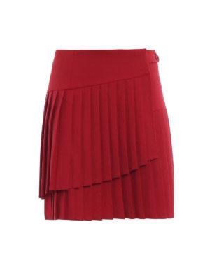 P.A.R.O.S.H.: minigonne - Minigonna Liliu rossa portafoglio plissettata