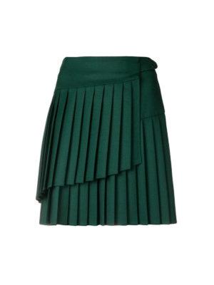 P.A.R.O.S.H.: minigonne - Minigonna asimmetrica Liliu in crepe di lana