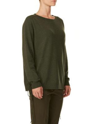 P.A.R.O.S.H.: maglia collo a barchetta online - Pull oversize in cashmere dettagli corsetto