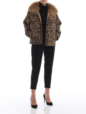 P.A.R.O.S.H.: giacche casual online - Giacca Lopar con collo di pelliccia