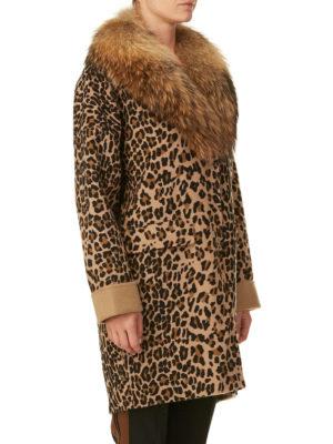 P.A.R.O.S.H.: Pellicce e montoni online - Cappotto animalier Lopar con pelliccia