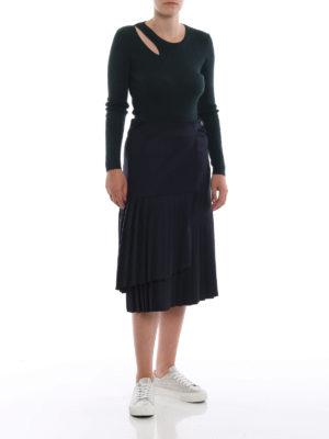 P.A.R.O.S.H.: gonne al ginocchio  e longuette online - Longuette Liliu portafoglio plissettata