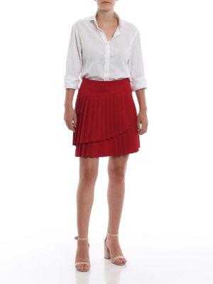 P.A.R.O.S.H.: minigonne online - Minigonna Liliu rossa portafoglio plissettata