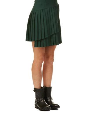 P.A.R.O.S.H.: minigonne online - Minigonna asimmetrica Liliu in crepe di lana