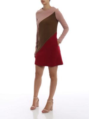 P.A.R.O.S.H.: abiti corti online - Abito Lachix in lana color block