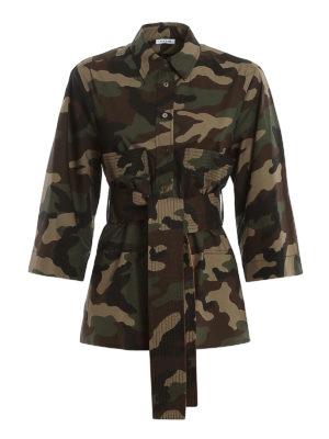 P.A.R.O.S.H.: shirts - Belted camu shirt