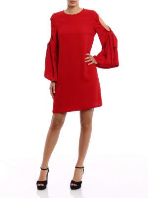 P.A.R.O.S.H.: short dresses online - Pantery cut-out detail tunic dress