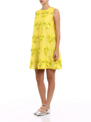 P.A.R.O.S.H.: short dresses online - Pytti embroidered organdie dress