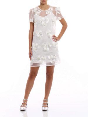 P.A.R.O.S.H.: short dresses online - Pytti white organdie dress
