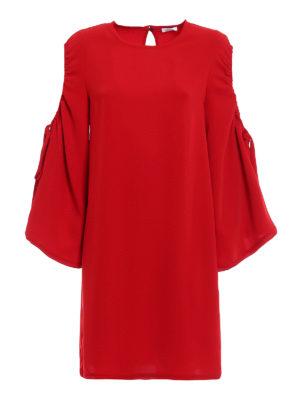 P.A.R.O.S.H.: short dresses - Pantery cut-out detail tunic dress