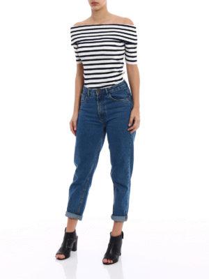 P.A.R.O.S.H.: t-shirts online - Romantic striped T-shirt