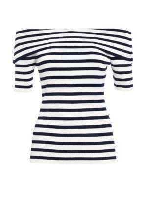 P.A.R.O.S.H.: t-shirts - Romantic striped T-shirt