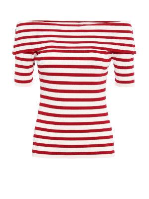 P.A.R.O.S.H.: t-shirts - Romantic striped Tee