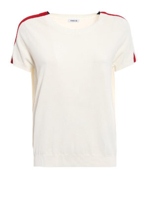 P.A.R.O.S.H.: t-shirts - Runner contrasting bands T-shirt