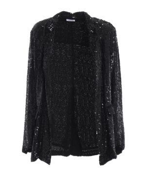 P.A.R.O.S.H.: giacche sartoriali - Giacca Ginter nera in paillettes