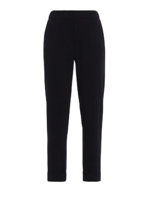 P.A.R.O.S.H.: Tailored & Formal trousers - Pantery black cady trousers