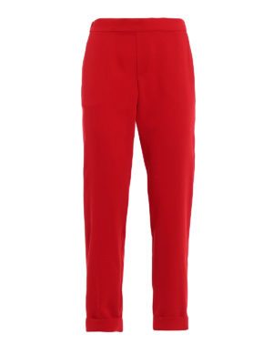 P.A.R.O.S.H.: Tailored & Formal trousers - Pantery red cady trousers