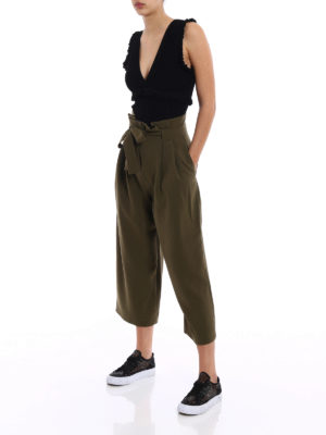 P.A.R.O.S.H.: Tops & Tank tops online - Rima ruched ribbed top