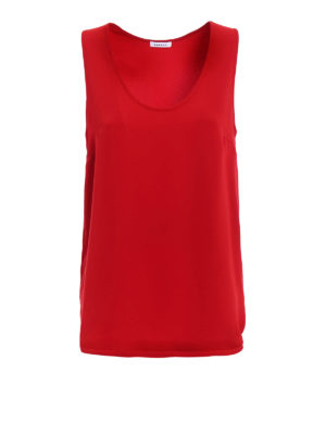 P.A.R.O.S.H.: Tops & Tank tops - Pantery red cady tank top