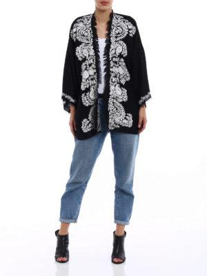 P.A.R.O.S.H.: tunics online - Open front black cashmere tunic