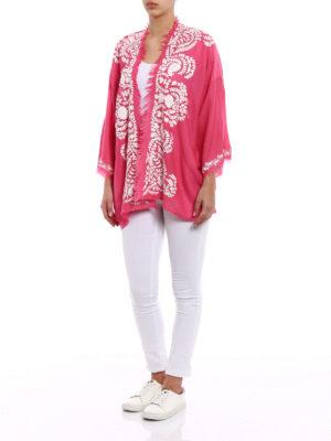 P.A.R.O.S.H.: tunics online - Open front fuchsia cashmere tunic