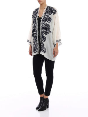 P.A.R.O.S.H.: tunics online - Open front white cashmere tunic
