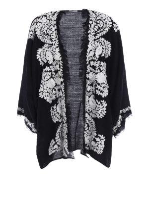 P.A.R.O.S.H.: tunics - Open front black cashmere tunic