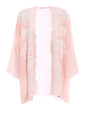 P.A.R.O.S.H.: tunics - Open front pink cashmere tunic
