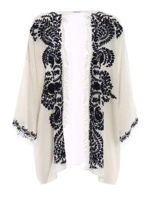 P.A.R.O.S.H.: tunics - Open front white cashmere tunic