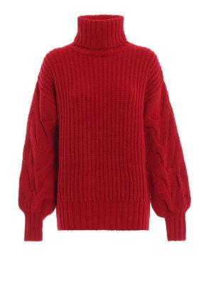 P.A.R.O.S.H.: maglia a collo alto e polo - Pull Lictoria in maglia a coste e trecce