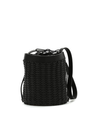 Paco Rabanne: Bucket bags - Leather discs bucket bag