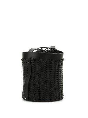 Paco Rabanne: Bucket bags online - Leather discs bucket bag