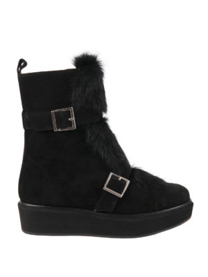 Paloma Barcelò: boots - Nevada fur detailed suede boots