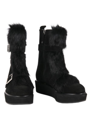 Paloma Barcelò: boots online - Nevada fur detailed suede boots