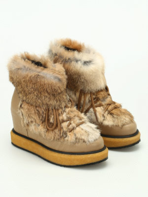 Paloma Barcelò: boots online - Ticino Kansas furry boots