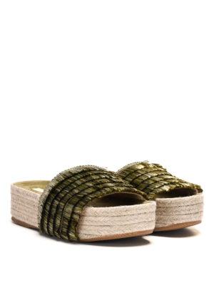 Paloma Barcelò: espadrilles online - Pascale raffia and jute sandals