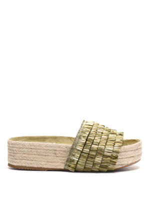 Paloma Barcelò: espadrilles - Pascale raffia and jute sandals