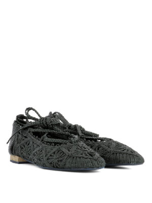 Paloma Barcelò: flat shoes online - Provence woven rope ballerinas