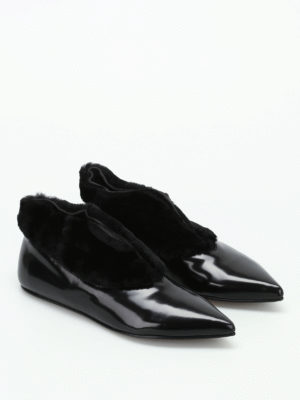 Paloma Barcelò: flat shoes online - Salome Flat patent leather shoes